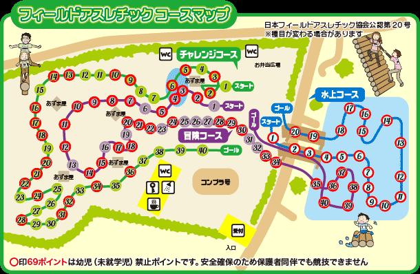 清水公園アスレチックマップ